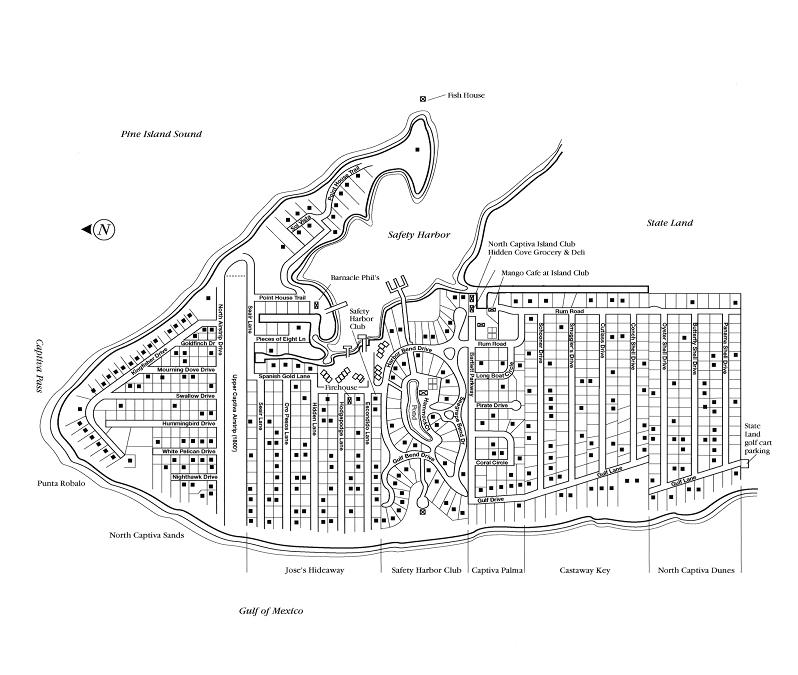 Sanibel Captiva Island and North Captiva Island Maps