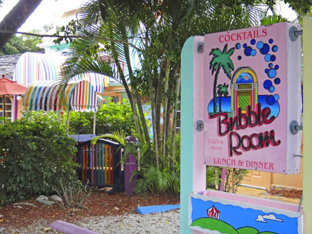 the bubble room on captiva island in florida