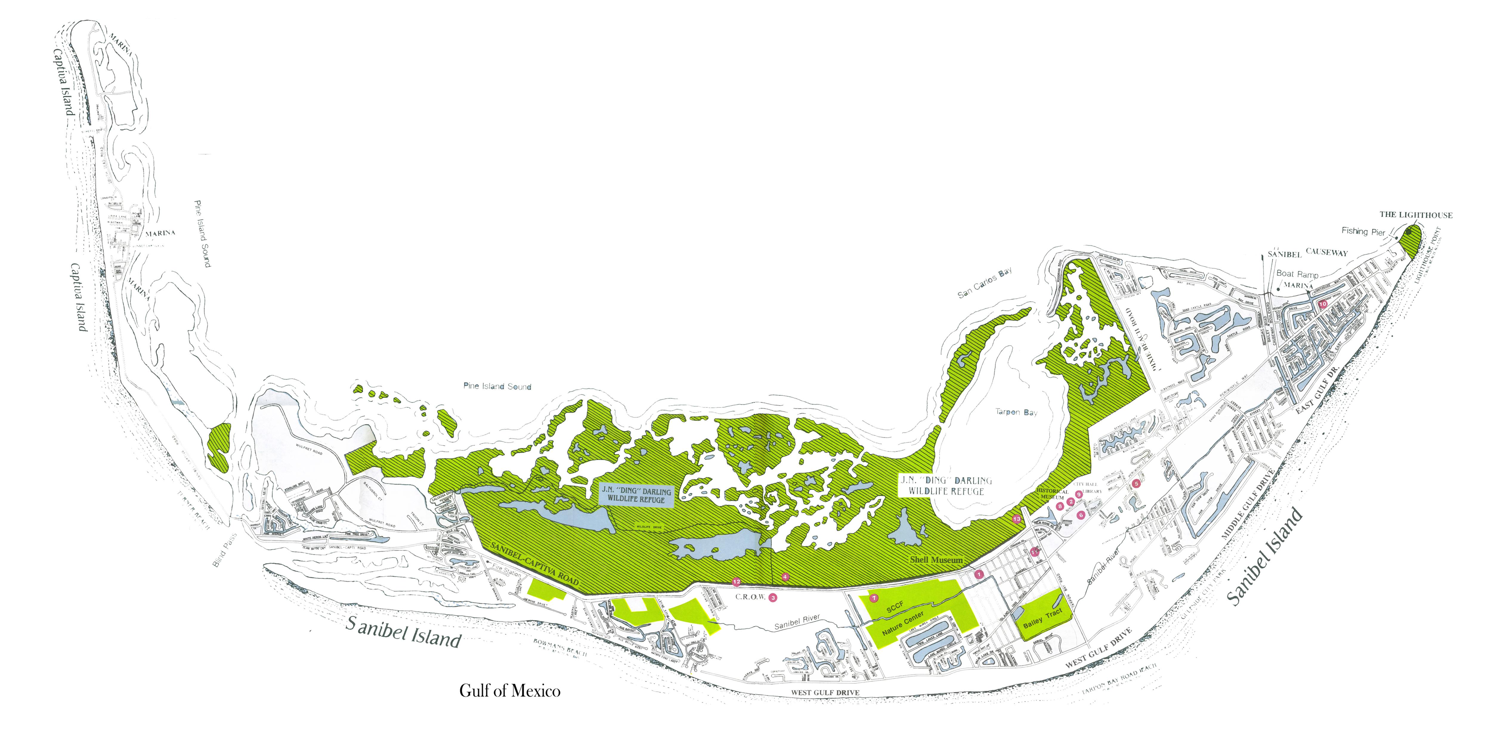 Captiva Island Restaurants Map